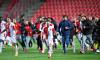 Fotbal - Fortuna liga 20/21 - Slavia - Plzeň ( v černém)