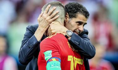 Tristesse des joueurs espagnols aprčs le match de coupe du monde