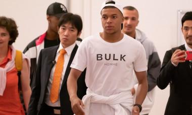 Kylian Mbappe at Haneda International Airport, Tokyo, Japan - 18 Jun 2019