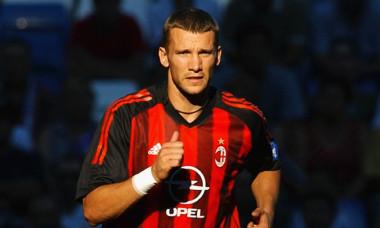 Andriy Shevchenko , pe vremea când juca la AC Milan / Foto: Getty Images