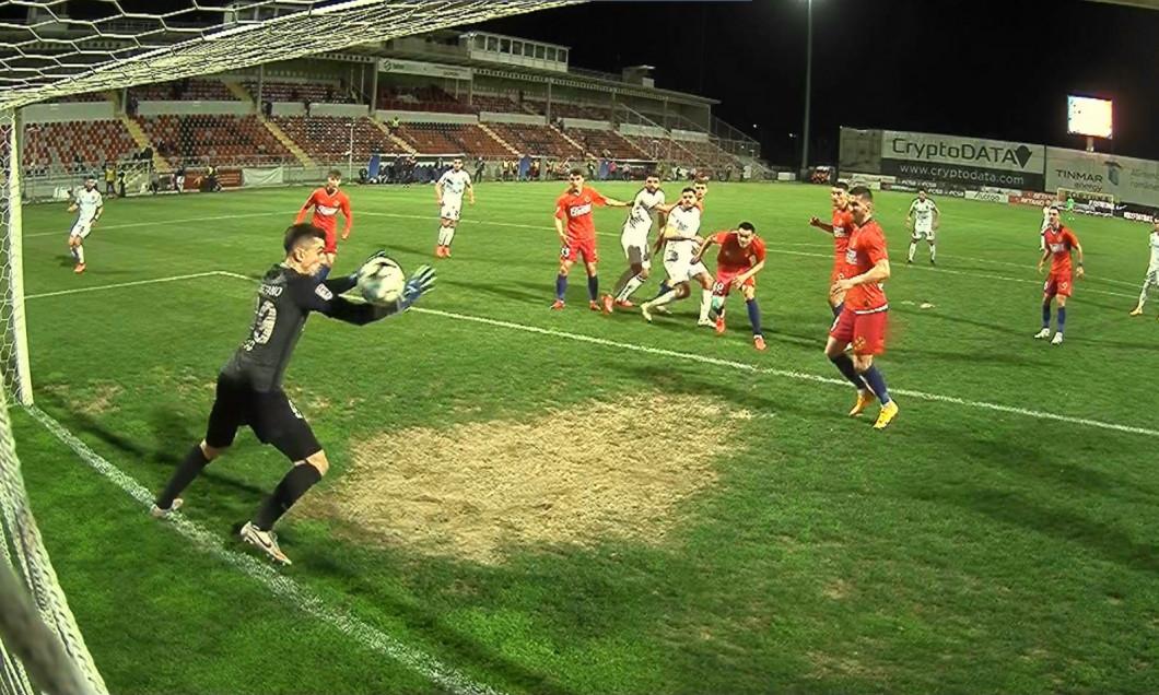 Andrei Vlad a fost învins de Andrei Burcă în FCSB - CFR Cluj / Foto: Sport Pictures