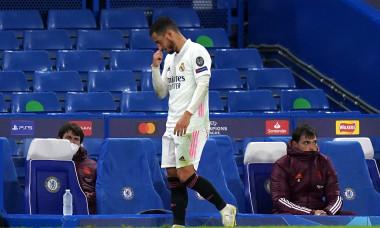 Eden Hazard, după ce a fost înlocuit în meciul cu Chelsea / Foto: Profimedia