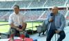 Marius Lăcătuș și Gabi Balint, la stadionul Steaua / Foto: Captură Digi Sport