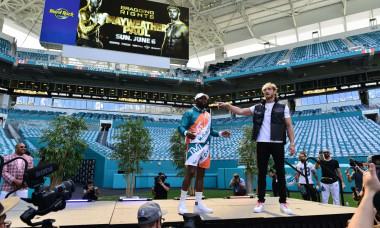 Floyd Mayweather and Logan Paul news conference, Miami Gardens, Florida, USA - 06 May 2021