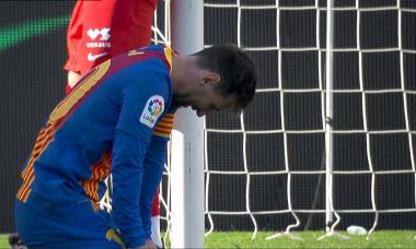 Lionel Messi, după ratarea lui Ousmane Dembele din Barcelona - Atletico Madrid / Foto: Captură Digi Sport