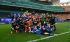 Ionuț Radu și coechipierii de la Inter, după succesul cu Sampdoria / Foto: Twitter@Inter
