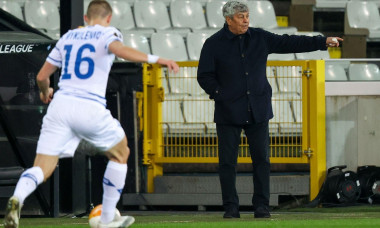 BRUGGE, BELGIUM - FEBRUARY 25: coach Mircea Lucescu of Dynamo Kiev during the UEFA Europa League match between Club Brugge and FC Dynamo Kyiv at Jan B