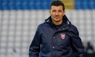 Odense, Denmark. 09th Apr, 2021. Head coach Constantin Galca of Vejle Boldklub seen during the 3F Superliga match between Odense Boldklub and Vejle Boldklub at Nature Energy Park in Odense. (Photo Credit: Gonzales Photo/Alamy Live News