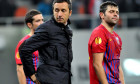 Mihai Stoica și Raul Rusescu, după un meci FCSB - Stuttgart 1-5 / Foto: Sport Pictures