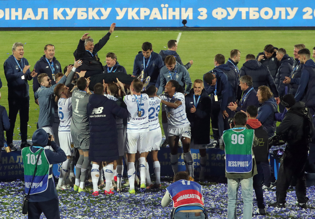 2020/2021 Ukrainian Cup final between Dynamo and Zorya in Ternopil