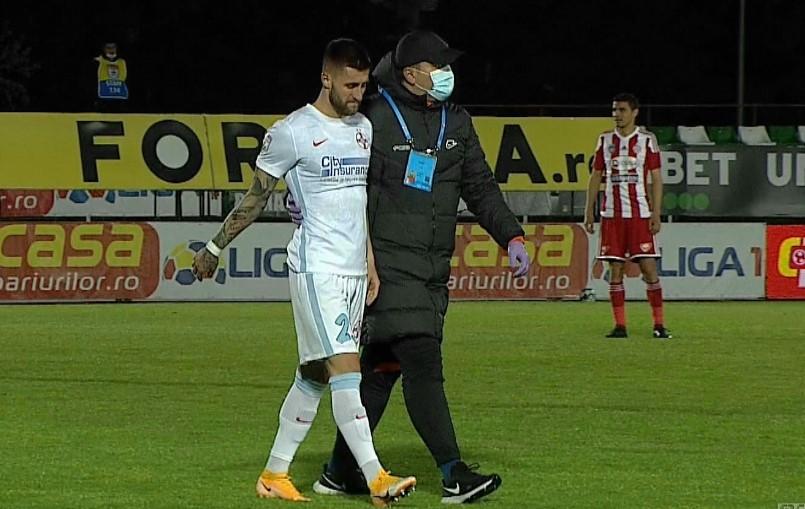 Toni Petrea l-a pierdut și pe Ovidiu Popescu! Mijlocașul FCSB a ieșit accidentat în meciul cu Sepsi