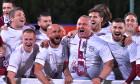 Mihai Iosif, alături de jucătorii de la Rapid / Foto: Sport Pictures