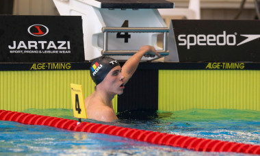 Roumenian Popovici David pictured during the second day of the 'Open Belgian Qualification Meet' swimming event, Sunday 04 April 2021 in Antwerp. Due