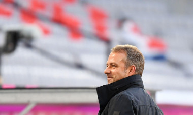 Munich, Germany. 04th Oct, 2020. Football: Bundesliga, Bayern Munich - Hertha BSC, 3rd matchday in the Allianz Arena. Munich coach Hansi Flick smiles before the start of the match. IMPORTANT NOTE: In accordance with the regulations of the DFL Deutsche Fub