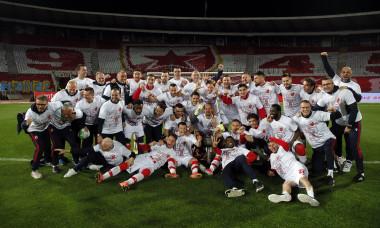 Football Serbia Crvena Zvezda Beograd (Red Star Belgrade) celebration