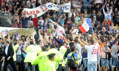 Stadionul din Galați, în 2011, după ce Oțelul a câștigat titlul / Foto: Sport Pictures
