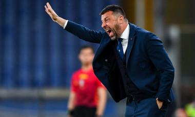 Roberto D'Aversa, în timpul meciului Sampdoria - Parma / Foto: Getty Images
