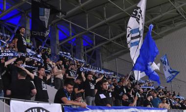 Suporterii Universității Craiova, la meci cu Astra din finala Cupei României / Foto: Sport Pictures