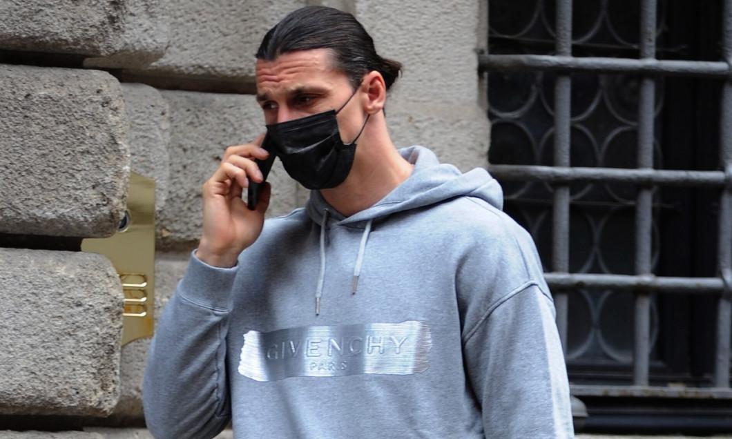 Milan, Zlatan Ibrahimovic has lunch in the center