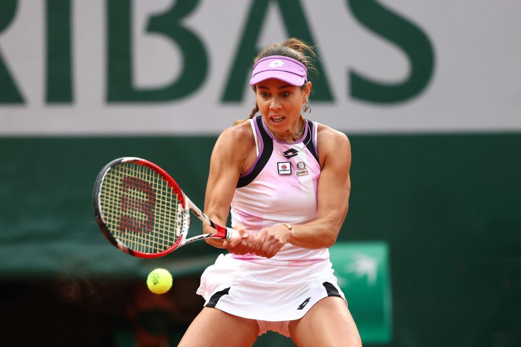 Mihaela Buzărnescu, în meciul cu Serena Williams de la Roland Garros / Foto: Getty Images