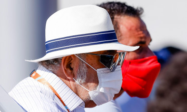 Paris, France. 31st May, 2021. Tennis: Grand Slam/WTA Tour - French Open, women's singles, 1st round, Konta (Great Britain) - Cirstea (Romania). Ion Tiriac is sitting in the stands. Credit: Frank Molter/dpa/Alamy Live News