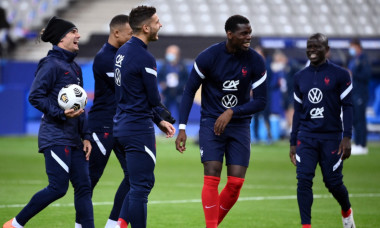 Paul Pogba și N'Golo Kante, alături de naționala Franței / Foto: Profimedia