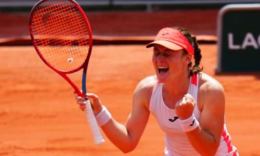 Tamara Zidansek, după victoria cu Paula Badosa / Foto: Profimedia