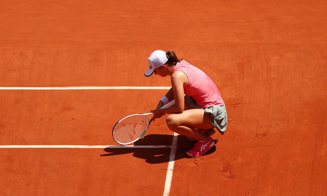 Iga Swiatek, în meciul cu Maria Sakkari de la Roland Garros / Foto: Getty Images