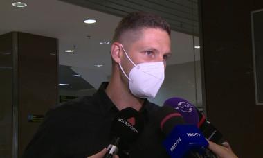 Stipe Vucur, la aeroport / Foto: Captură Digi Sport