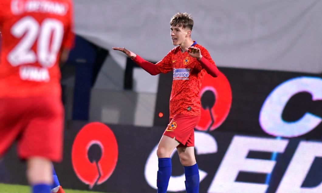 Octavian Popescu, după golul marcat în FCSB - Sepsi / Foto: Sport Pictures