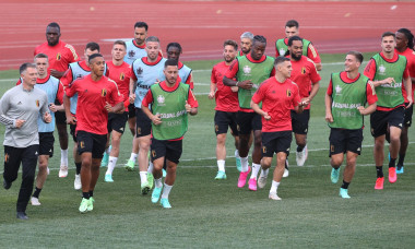 Team Belgium training for UEFA Euro 2020 group stage match against Russia