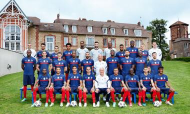 Photo officielle de l'équipe de France de football pour l'Euro 2020 au centre National du Football de Clairefontaine-en-Yvelines