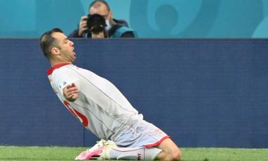 Goran Pandev, după golul marcat în Austria - Macedonia de Nord / Foto: Profimedia