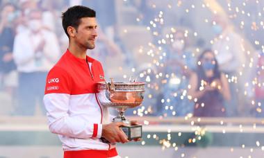 Novak Djokovic, după finala de la Roland Garros, câștigată în fața lui Stefanos Tsitsipas / Foto: Getty Images