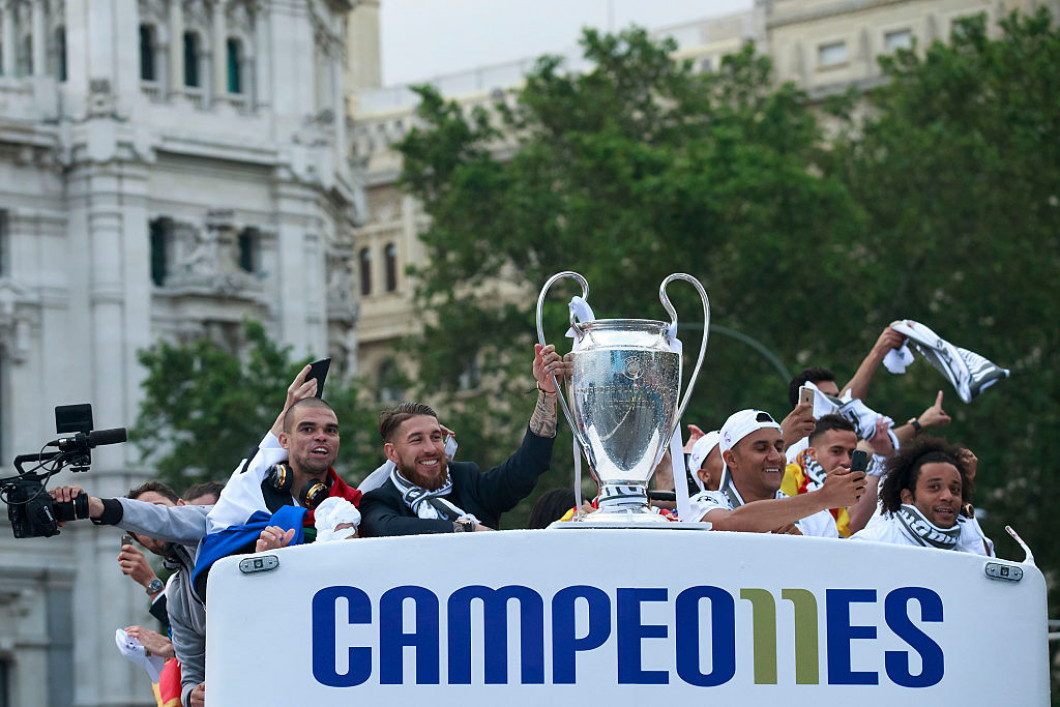 Real Madrid Celebrate After They Win Champions League Final
