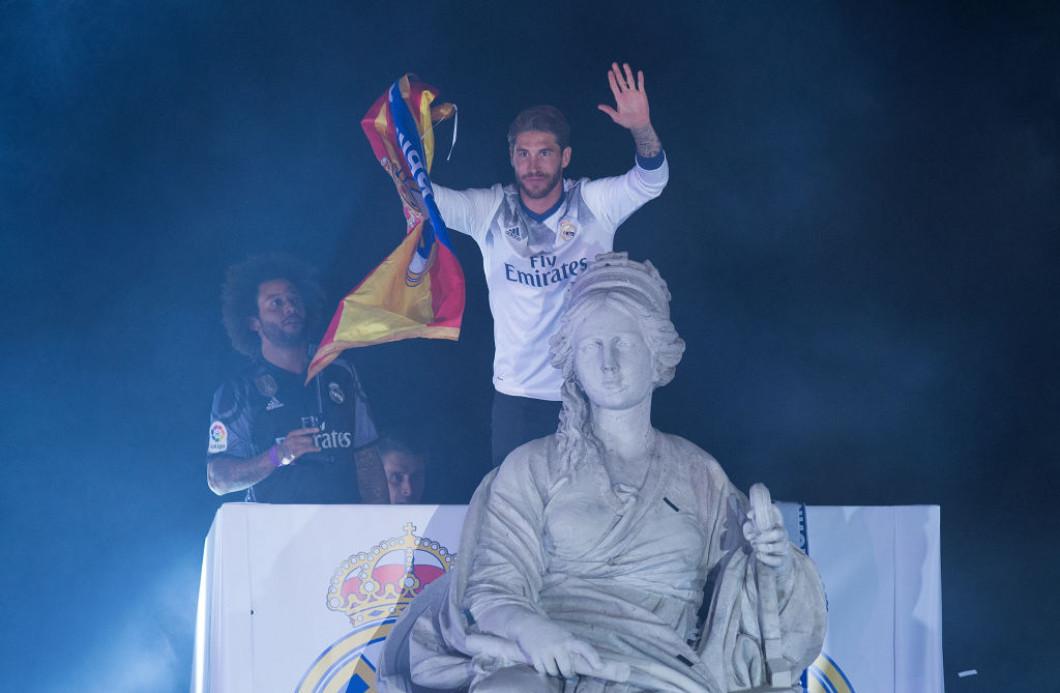 Real Madrid Celebrate Winning La Liga