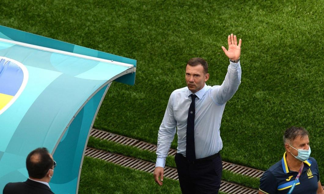 Ukraine head coachAndriy Shevchenko after the UEFA Euro 2020 Championship Group C match between Ukraine and North Macedonia at National Arena on June 17, 2021 in Bucharest, Romania BUCHAREST, ROMANIA - JUNE 17: