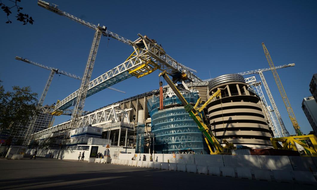 Remodeling Works Of The Santiago Bernabeu, Madrid, Spain - 05 Apr 2021