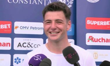 Vlad Mihalcea, mijlocașul Farului / Foto: Captură Digi Sport