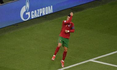 Cristiano Ronaldo, după golul marcat în Portugalia - Franța de la EURO 2020 / Foto: Profimedia