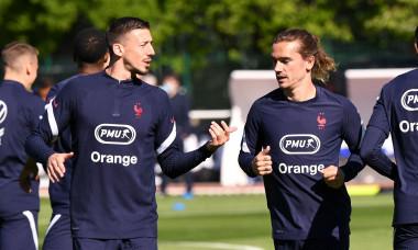 Entraînement de l'équipe de France de football ŕ Clairefontaine