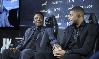 Football legend Hublot Event Pele meeting with MBappe