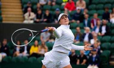 Bianca Andreescu, în meciul cu Alize Cornet de la Wimbledon / Foto: Profimedia