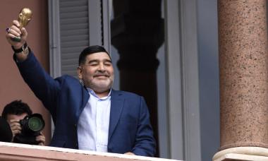 Diego Maradona Meets President Fernandez at Government House