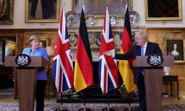 Prime Minister Boris Johnson meets with Chancellor Merkel