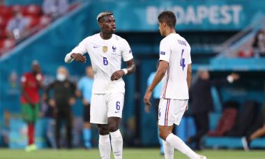 Raphael Varane și Paul Pogba, în meciul Portugalia - Franța de la EURO 2020 / Foto: Getty Images