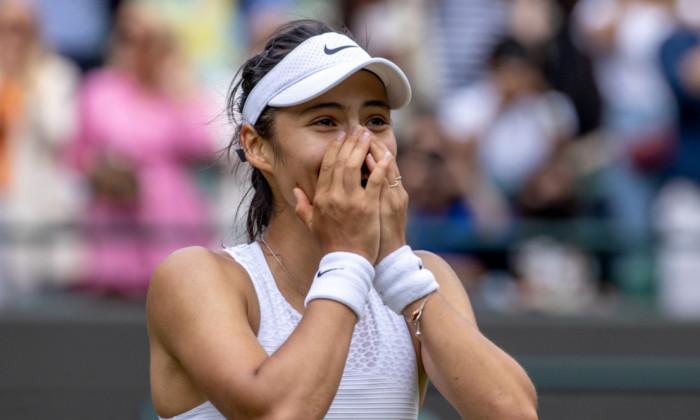 Emma Răducanu, după victoria cu Sorana Cîrstea de la Wimbledon / Foto: Getty Images