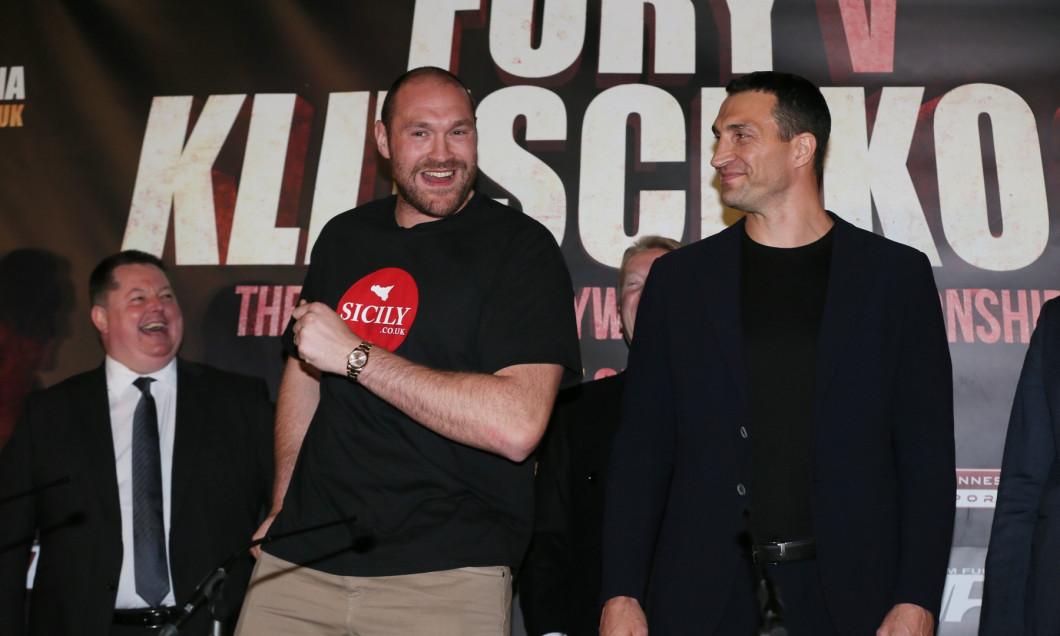 Boxing - Tyson Fury v Wladimir Klitschko - Press Conference Manchester Arena, Manchester, United Kingdom - 27 Apr 2016