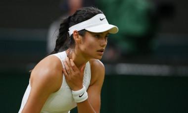 emmaEmma Răducanu, în meciul cu Ajla Tomljanovic de la Wimbledon / Foto: Getty Images