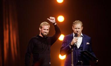 Kasper Schmeichel and Peter Schmeichel